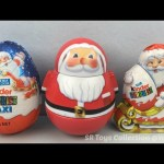Christmas Kinder Chocolate Surprise Eggs Santa Claus and Shopkins Season 4 Blind Basket