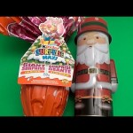 Christmas Party! Opening a Surprise Egg Santa Claus Can and a JUMBO Kinder Surprise Egg!
