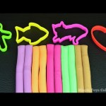 Colors and Shapes with Modeling Clay Fun & Creative for Kids.
