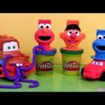 Cookie Monster Play Doh Shape Molding Fun How to Mold A Car Play Dough Lightning McQueen Disney Cars
