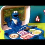 Cookie Monster Singing Songs 1-2-3 Learn & Crunch Lunchbox Colors Numbers Toy Review DisneyCollector