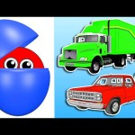 Counting Trucks for Kids | Learn Colors & Numbers | Animated Surprise Eggs filled with Colours