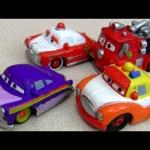 Custom Doc Hudson & Red with Sheriff Mini Adventures Cars Radiator Springs Disney Pixar
