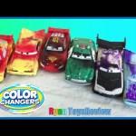 Disney Cars Color Changer Toys Lightning McQueen Mack Dip & Dunk Trailer Kids Video Ryan ToysReview