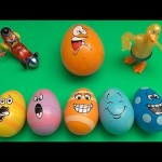 Disney Cars Surprise Egg Learn-A-Word! Spelling Facial Features! Lesson 3