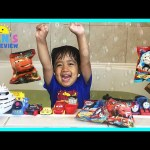 Disney Cars Toys Thomas and Friends Bath Balls Japanese Surprise Toys Color Changers McQueen Mater
