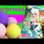 Disney Frozen Bath Bomb Surprise MyLittlePony Kinder Egg Disney TsumTsum ~ アナと雪の女王 バスボール びっくら?たまご