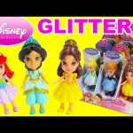 Disney Princess Mini Toddler Dolls with Glitter