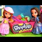 Disney Princess Sofia the First Shopping at Shopkins Cash Register Supermarket