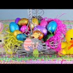 EASTER basket EEGS SURPRISES Zootopia toys, Hello Kitty, Inside Out Shopkins, MLP Minions, Peppa Pig