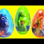 Finding Dory Zootopia and Good Dinosaur Surprise Eggs
