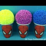 Foam Clay Ice Cream Spiderman Paw Patrol The Good Dinosaur Surprise Eggs and Toys