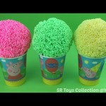 Foam Clay Ice Cream Surprise Eggs Peppa Pig Disney Frozen Angry Birds Olaf