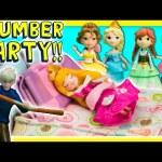 FROZEN ELSA Disney Princess Slumber Party with Jack Frost Slime Prank Frozen Disney Video Toy Parody