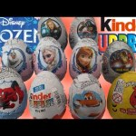 FROZEN Surprise Eggs, Kinder Surprise Eggs Spider-Man Iron Man Surprise Eggs
