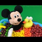 Fun Learning Colors with Mickey Mouse Bath Time In Candy Pretend Play for Children