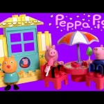 George Comiendo Helados in Peppa's Ice Cream Shop Lego Blocks – Heladería Peppa Pig con Cucuruchos