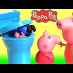 George Falls in the Toilet! Eww is that Poop or Candy ?!? Peppa Pig Loves to Prank Baby George Pig