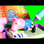 George Pig Breaks his Arm & Goes to Doc McStuffins Mini Clinic – Time For a Check-Up And Get a Shot