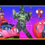 GIANT EGG SURPRISE OPENING SPIDERMAN Superheroes toys Spiderman vs Venom Kinder Egg Power Wheels