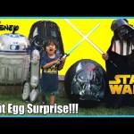 GIANT EGG SURPRISE OPENING Star Wars Darth Vader Disney Toys Kids Video Ryan ToysReview