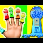 Gumball Machine 3D Finger Family Ball Pit Balls Color Song for Kids to Learn Colours Nursery Rhymes