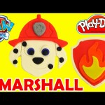 How To Make Paw Patrol Play Doh Marshall and Badge