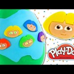 HUGE Rainbow Dora The Explorer Play Doh Surprise Egg – Giant Nick Jr. Playdough Eggs