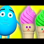 Ice Cream Cone Surprise Eggs 3D Learn Colors – Teach Colours for Kids Baby Toddler Learning Video