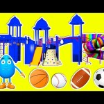 Indoor Playground Family Fun 3D for Kids to Learn Colors – Giant Slides Playroom Balls Surprise Eggs