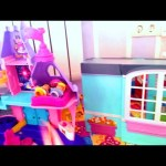 Indoor playground for children. Princess toy palace for girls. Part 3