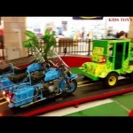 Indoor Playground For Kids  with cars for playing. Funny video