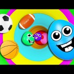 Indoor Playground Tunnel Family Fun 3D for Kids to LEARN COLORS with Surprise Eggs Color Balls