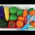 Just Like Home Velcro Toy Cutting Fruits and Vegetables Pretend Play set