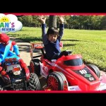 Kid Car Racing Power Wheels Playtime at the Park GIANT RC MONSTER TRUCK Spiderman Egg Surprise Toys