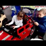 Kids playing with toys. Shopping time. Funny video from KIDS TOYS CHANNEL