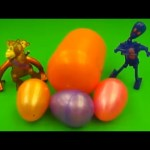 Kinder Surprise Egg Learn-A-Word! Lesson 'H' (Teaching Spelling & Letters Unwrapping Eggs & Toys)