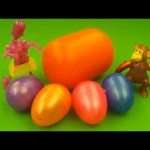 Kinder Surprise Egg Learn-A-Word! Lesson 'L' (Teaching Spelling & Letters Unwrapping Eggs & Toys)