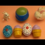 "Kinder Surprise Egg Learn-A-Word! Spelling Food ""Lesson N"" (Teaching Letters Opening Eggs & Toys)"
