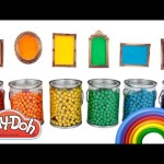 Learn Colors and Sizes Play Doh Peppa Pig MLP Disney Magiclip Toy Story Minions RainbowLearning