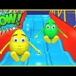 Learn Colors Collection 1 HOUR w/ Indoor Playground 3D Slides – Teach Colours for Kids Baby Toddler