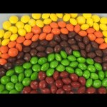 Learn Colors For Children With Skittles Candy, Make A Rainbow Using Skittles