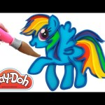 Learn Colors Play Doh Painting My Little Pony MLP RainbowLearning