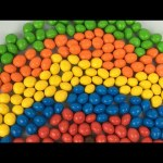 Learn Colours For Children With M&Ms Chocolate Candy, Make A Rainbow With M&Ms Candy