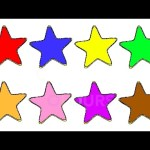 Learn Colours For Children With STARS Colouring Page