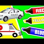 Learn Colours & Street Vehicles: Cars and Trucks ★ Coloring Book, Colors for Kids, Toddlers & Babies
