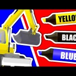 Learn Colours & Vehicles: Excavator ★ Coloring Book ★ Color Lesson for Kids, Toddlers and Babies