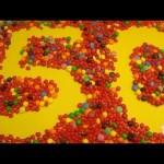 Learn To Count 1 to 50 with Candy Numbers! Surprise Eggs with Smarties Skittles and Candy Hearts