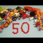 Learn To Count 1 to 50 with Toys and Candy Numbers!