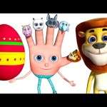 Learn Wild Animal Sounds | Surprise Eggs For Children | VeeJee Surprise Eggs Finger Family Series